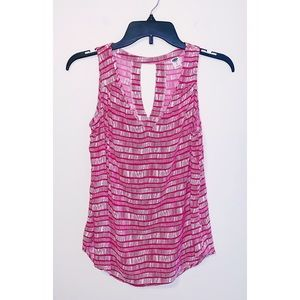 Old Navy Pink/White Patterned Tank Top